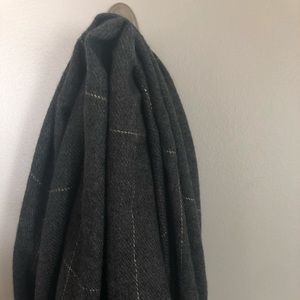 Gray & Gold Anthropologie Blanket Scarf